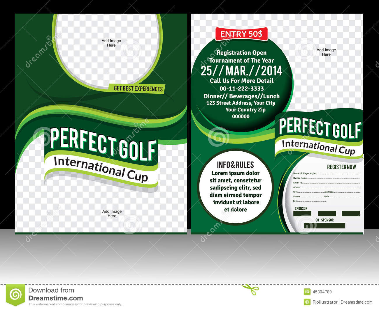 perfect golf flyer template stock vector illustration of flyer