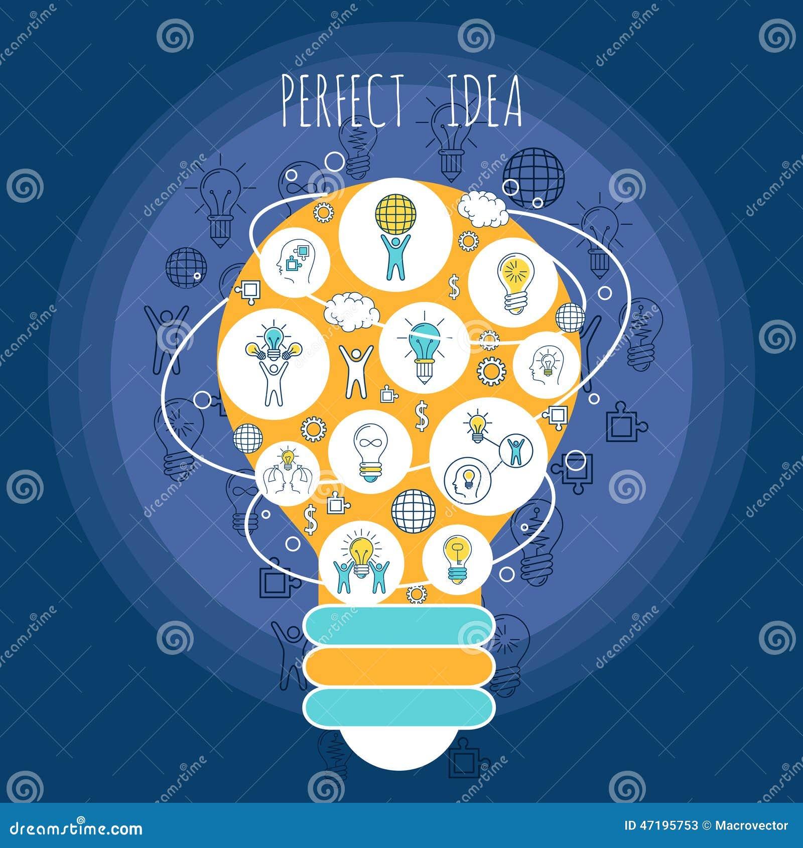 Perfect Idea Poster Stock Vector