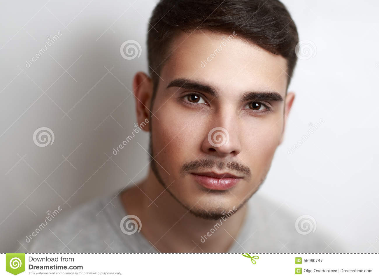 Handsome Guy Dreamy Eyes Stock Images 132 Photos
