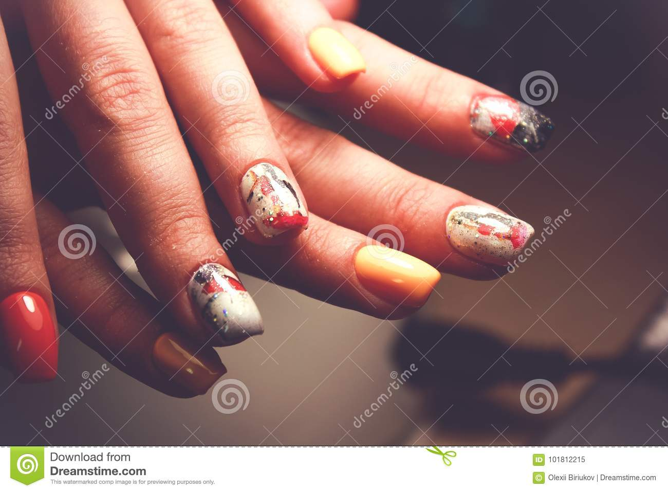Perfect Manicure And Natural Nails. Attractive Modern Nail