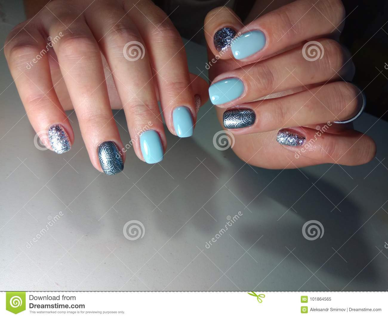 Perfect Manicure And Natural Nails. Stock Image - Image of skin ...