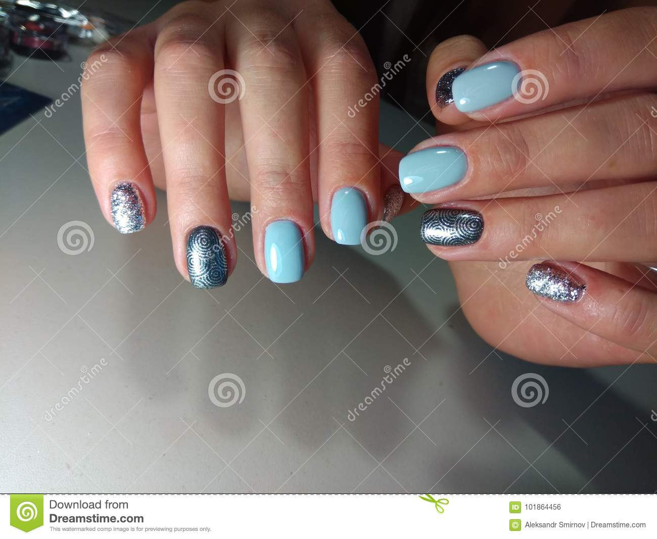 Perfect manicure and natural nails. - Perfect Manicure And Natural Nails. Stock Photo - Image Of Natural