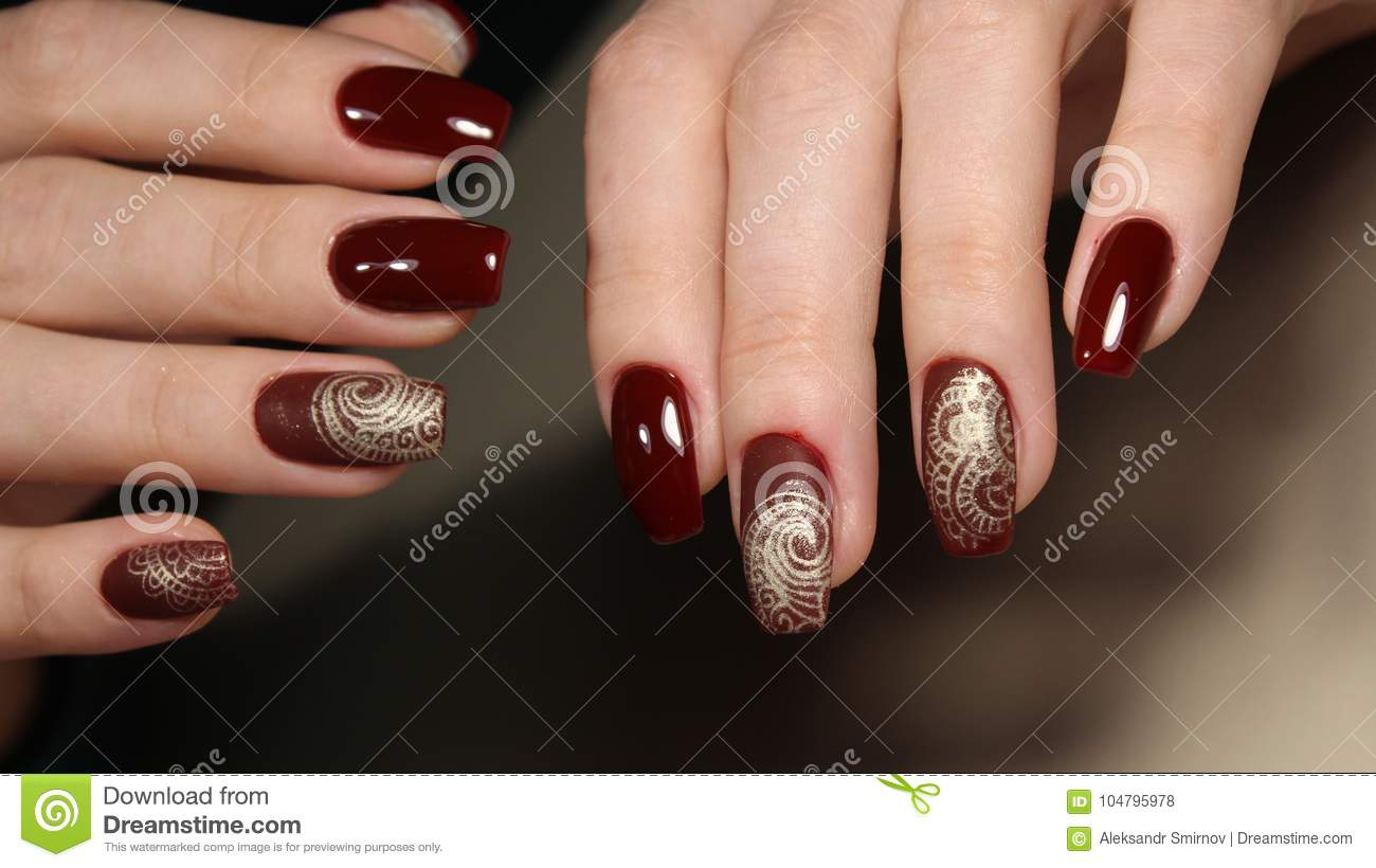 Perfect Manicure And Natural Nails. Stock Photo - Image of woman ...
