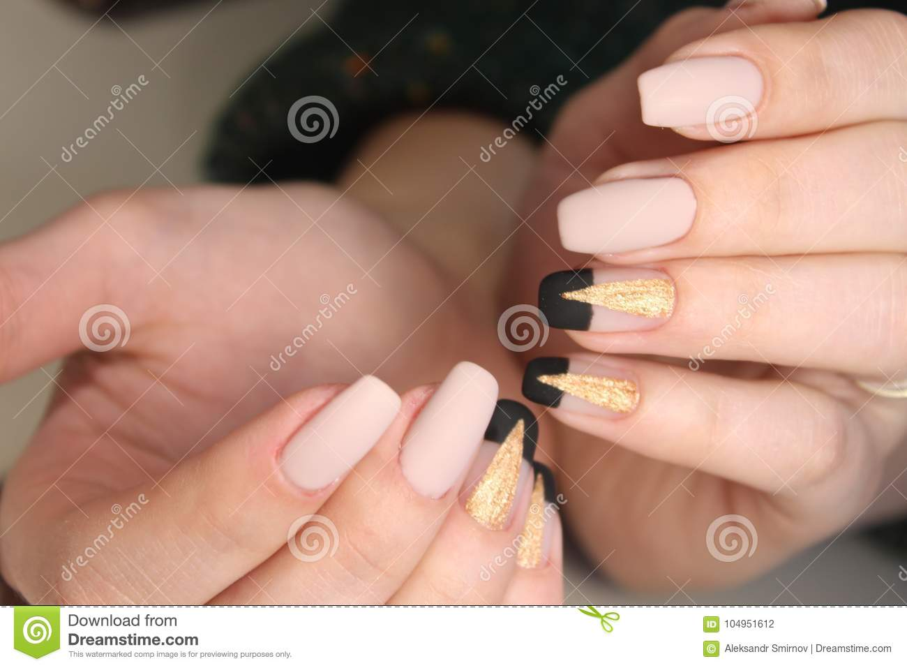 Perfect Manicure And Natural Nails Stock Photo Image Of French