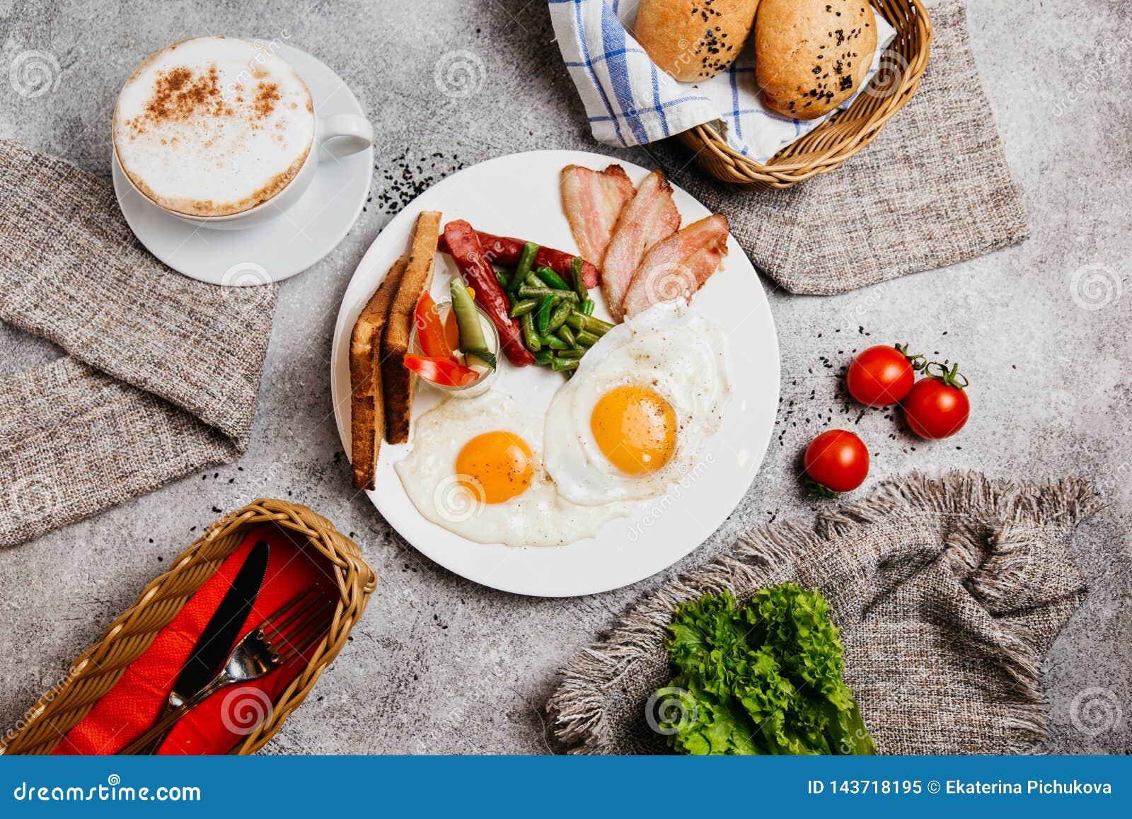 Perfect ontbijt met koffie