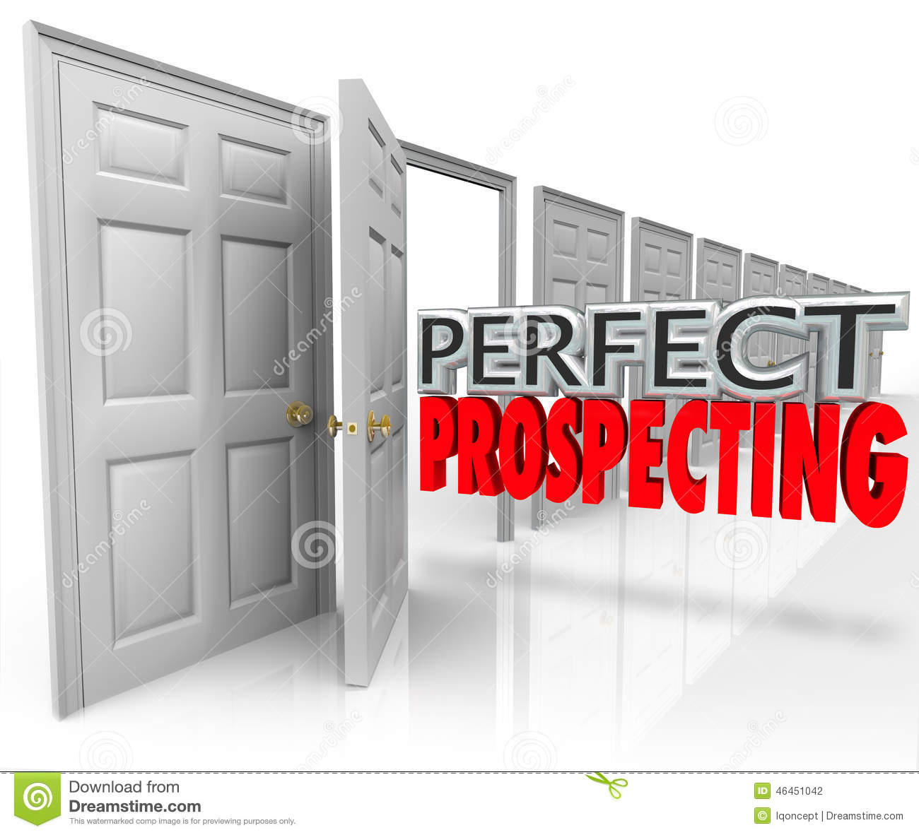 Perfect prospecting practicing sales techniques opening for Door to door sales