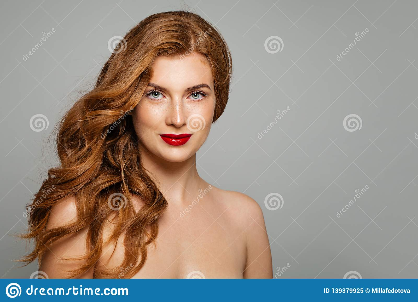 Enjoyable Perfect Red Haired Woman Elegant Redhead Girl With Curly Schematic Wiring Diagrams Amerangerunnerswayorg