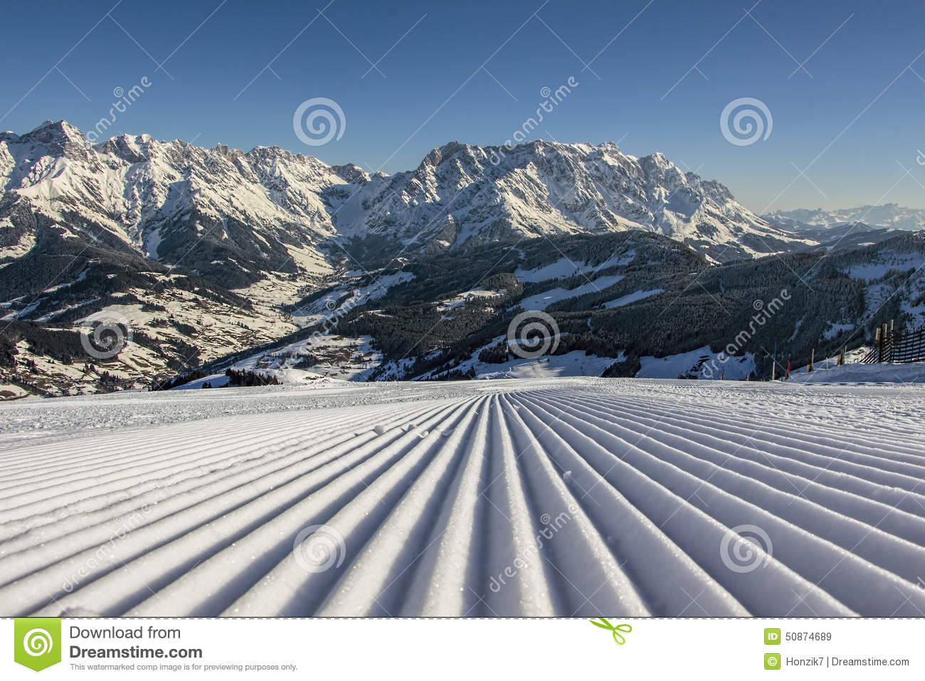 Perfect ski vacation on perfect slopes