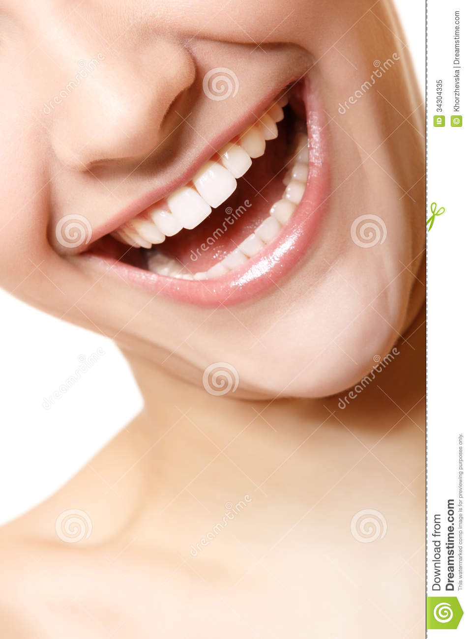 Perfect Smile Of Beautiful Woman With Great Healthy White