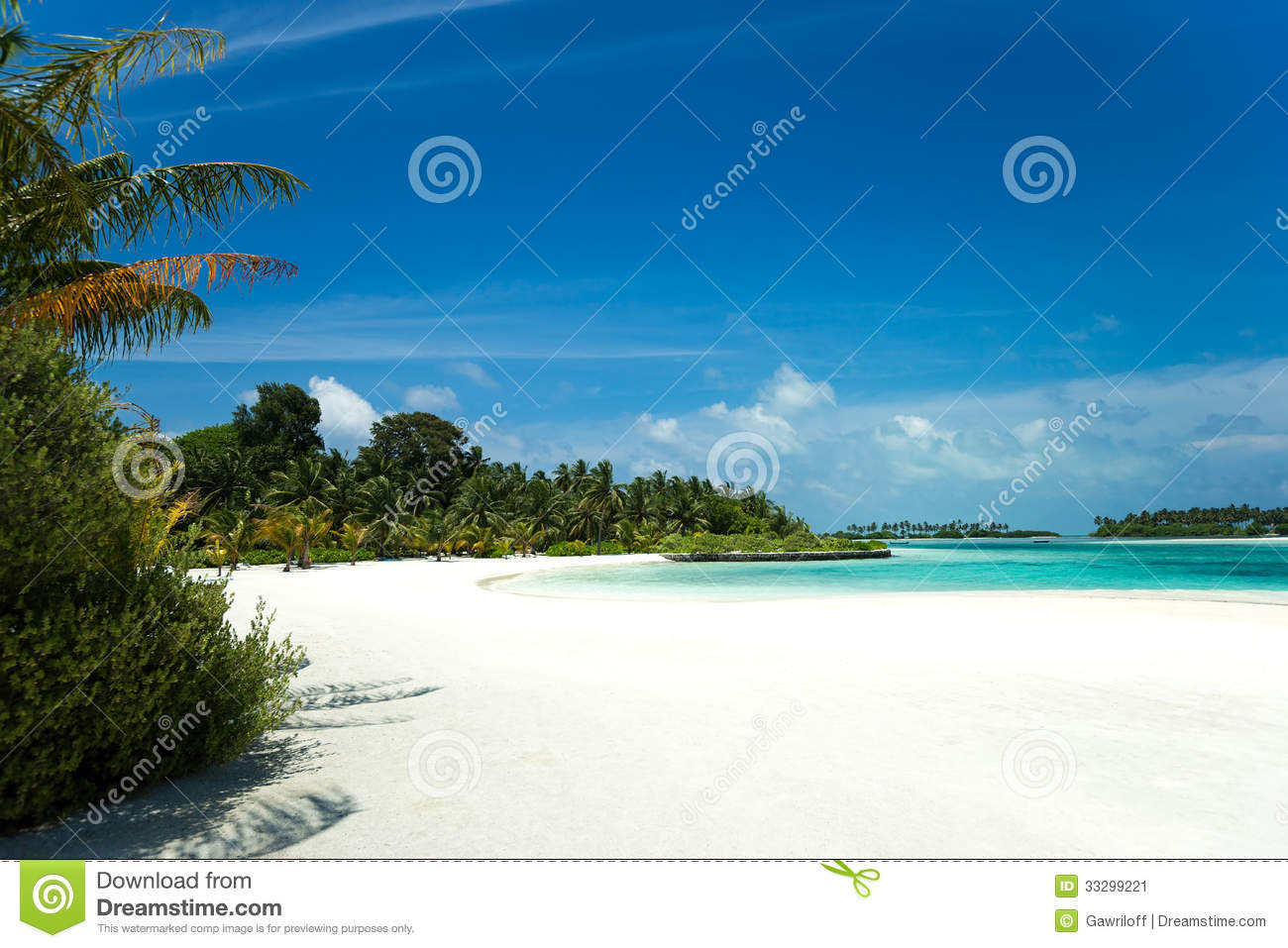 Tropical Island Beach Ambience Sound: Perfect Tropical Island Paradise Beach Stock Image