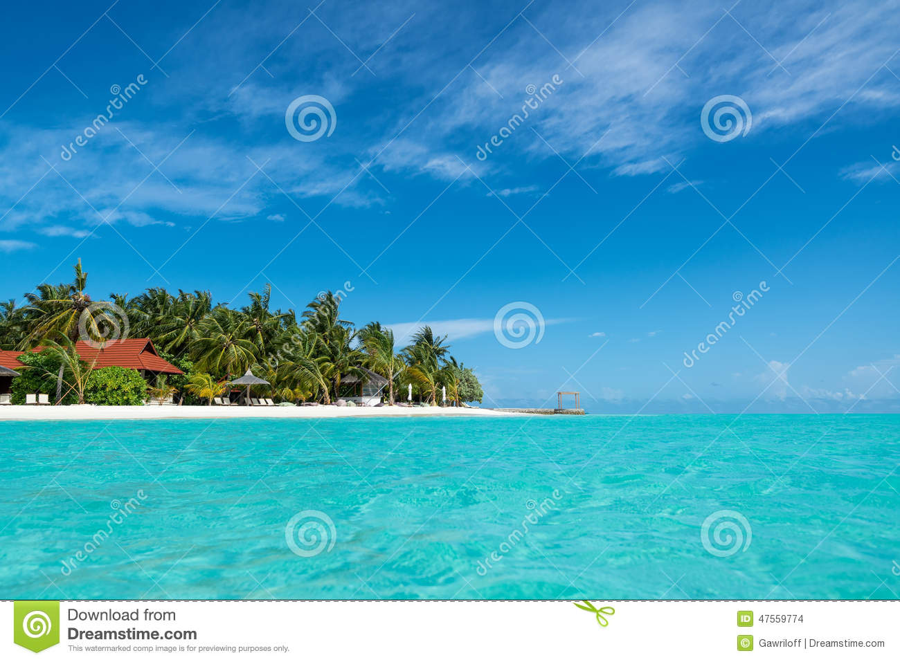 Tropical Island Beach Ambience Sound: Perfect Tropical Island Paradise Beach Stock Photo