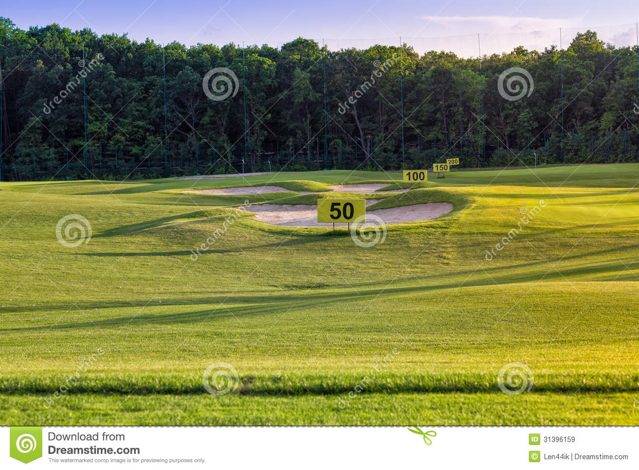 Perfect Wavy Grass On A Golf Field Royalty Free Stock