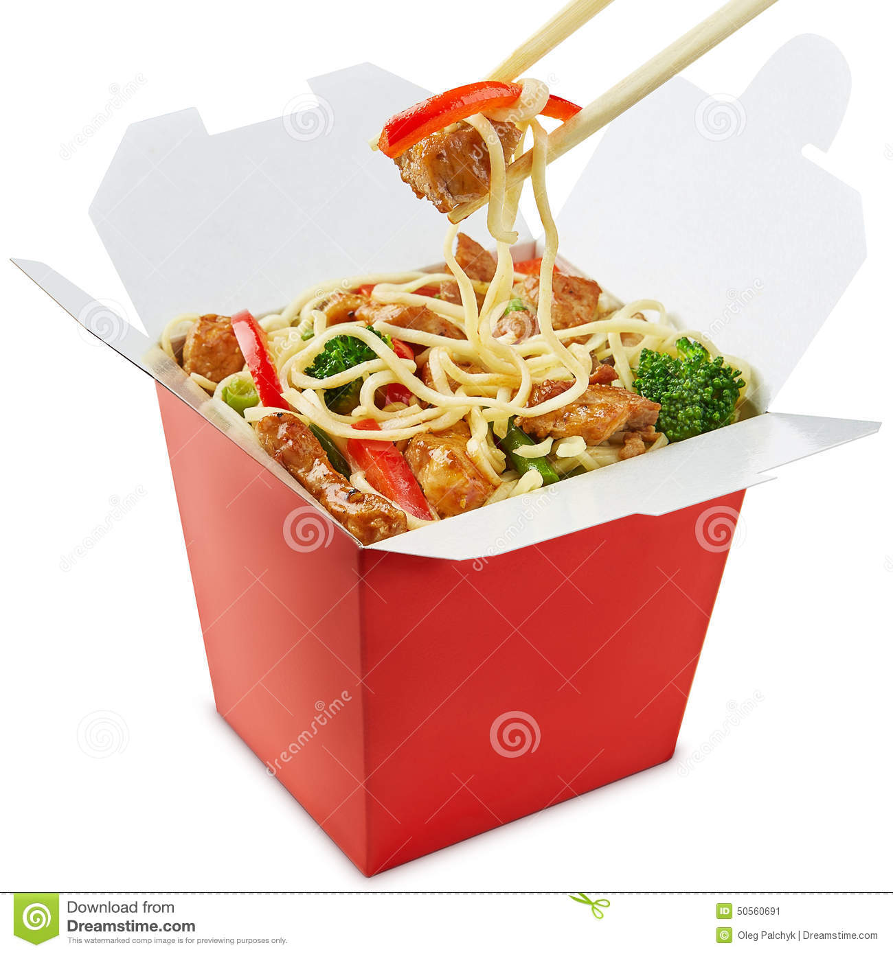 Chinese Food Noodles Chopsticks