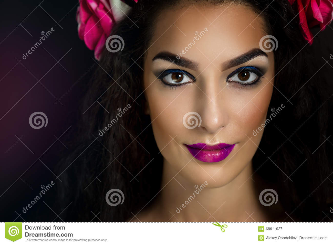 Young Italian Fashion Model Portrait With Perfect Skin On ...