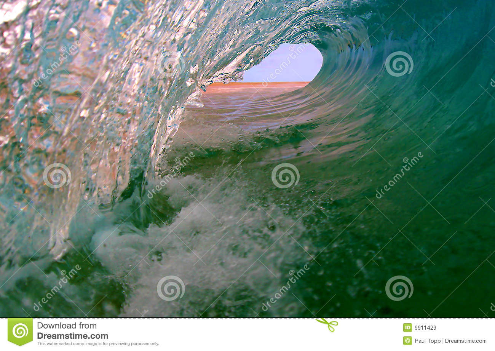 Perfecte Oceaan het Surfen Golf