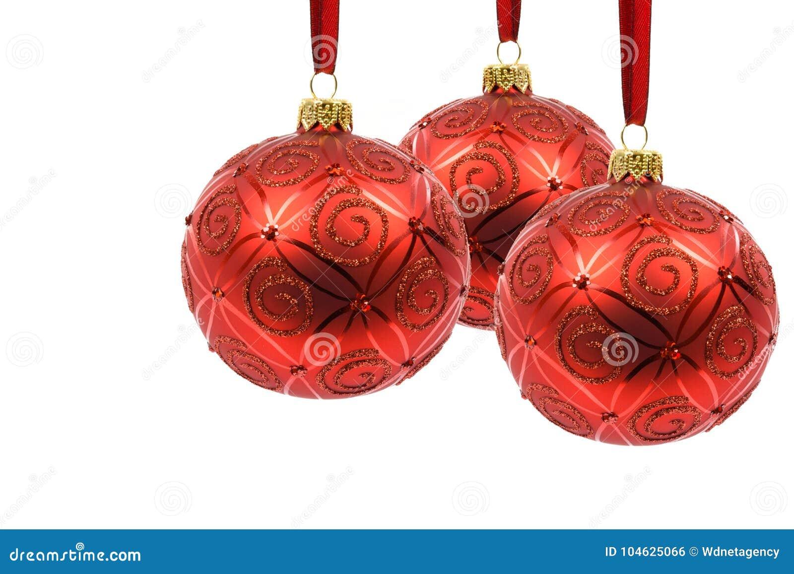 Download Perfecte Rode Kerstmisballen Stock Foto - Afbeelding bestaande uit mooi, viering: 104625066
