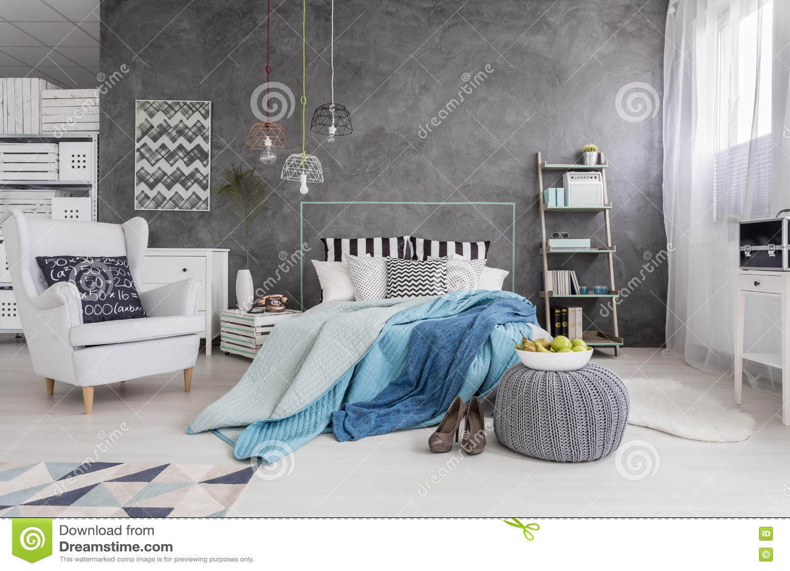 perfecte slaapkamer voor moderne n enkele vrouw