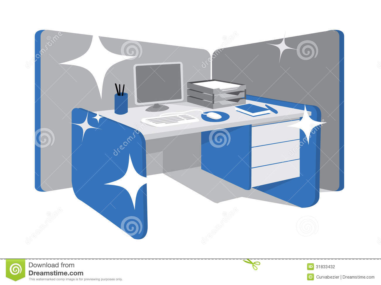 Perfectly Organized Workstation Stock Vector Image 31833432