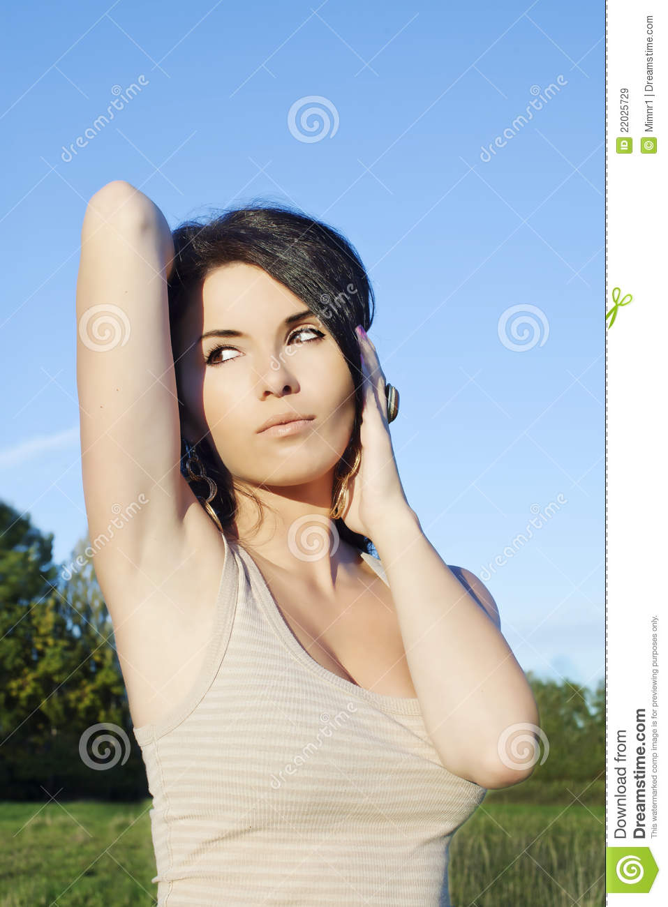 Womens shaved armpits