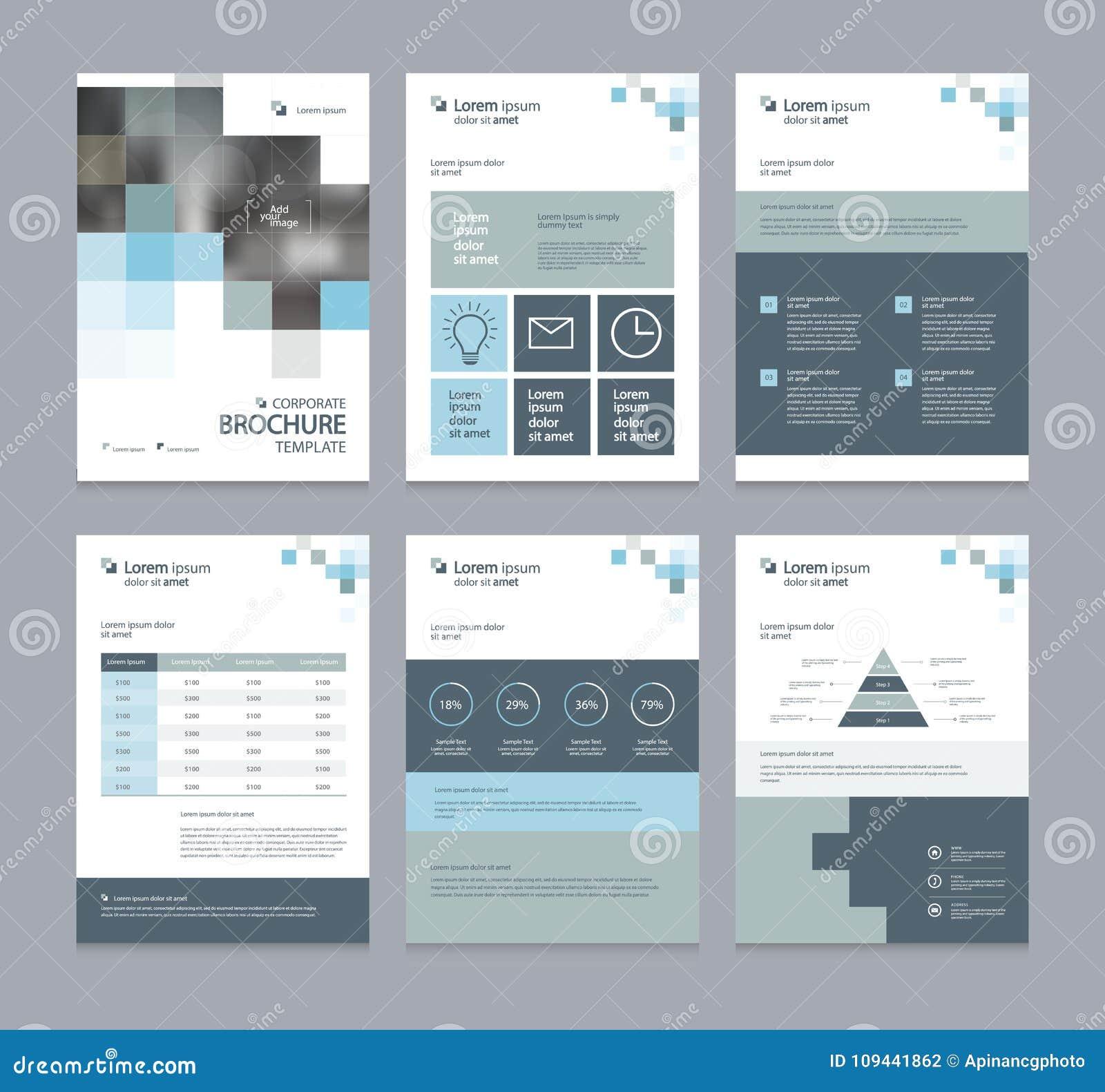 Perfil da empresa do negócio, informe anual, folheto, inseto, apresentações, compartimento, e molde da disposição do livro,