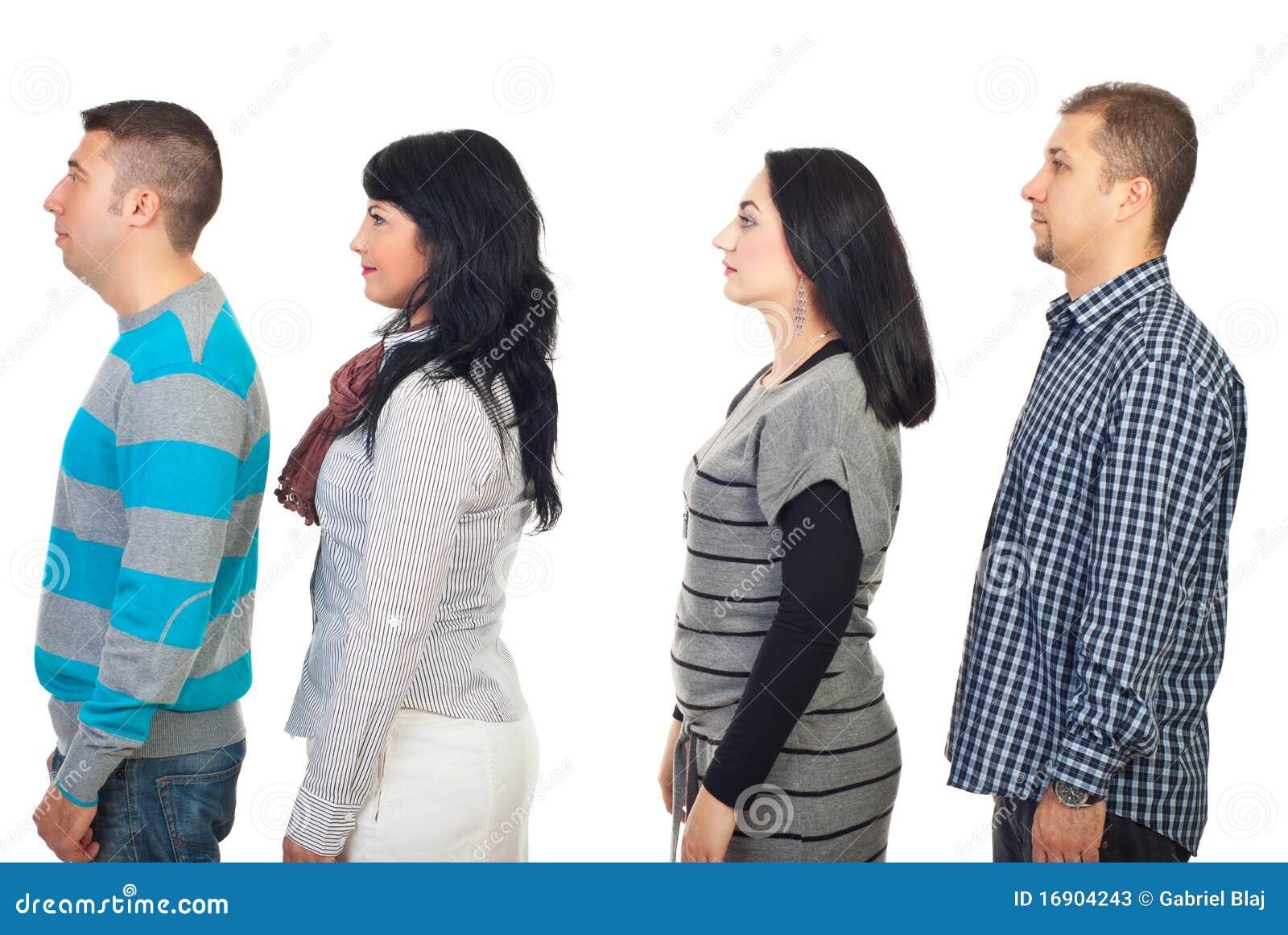 Perfil de cuatro personas imagen de archivo imagen de for Hotel para cuatro personas