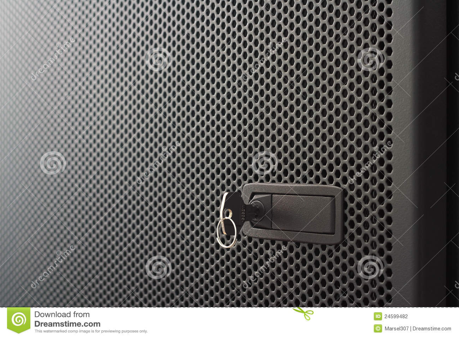 Perforated Metal Door Stock Photo Image Of Shining Lock