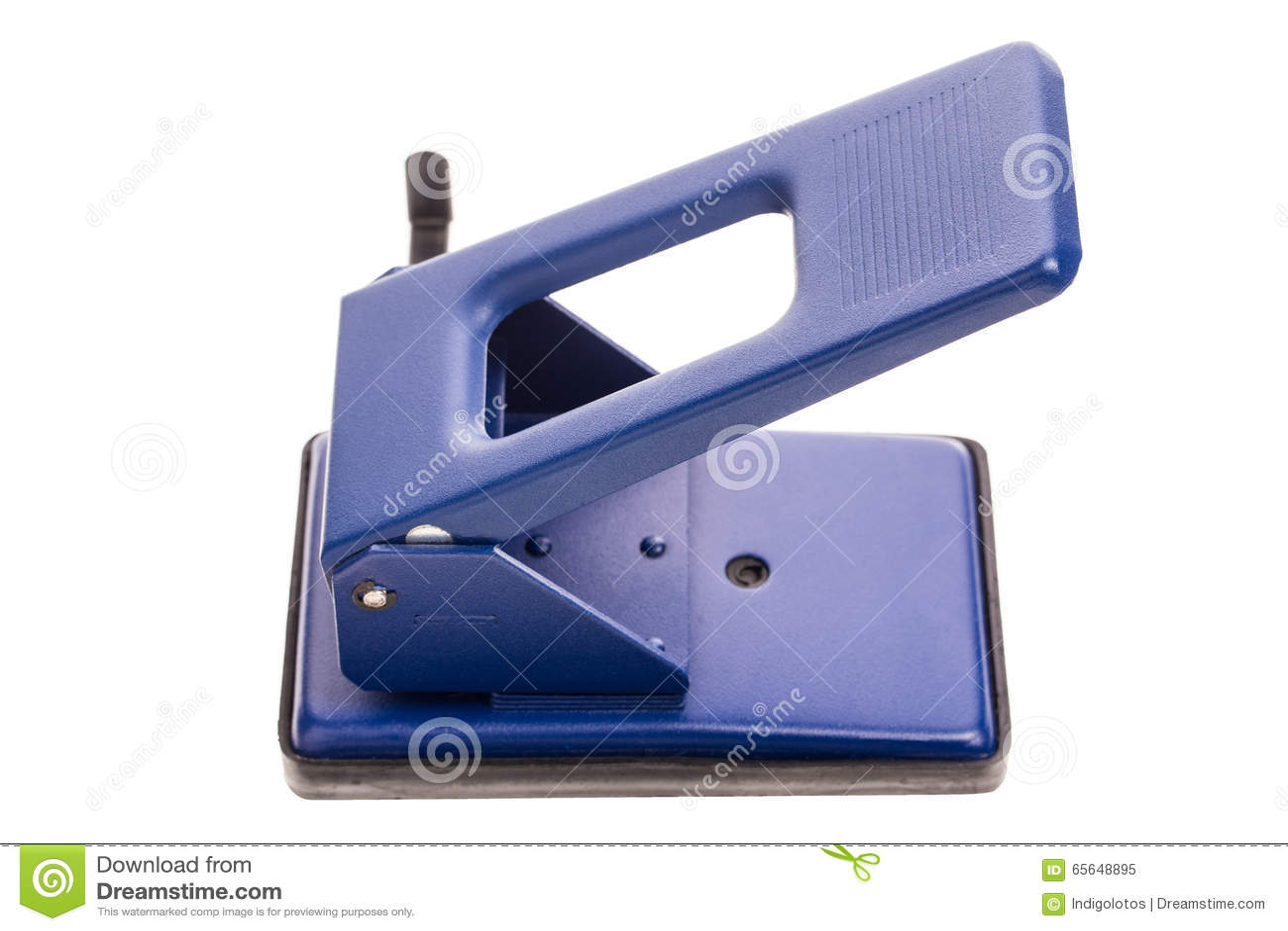 Perforateur de trou bleu de bureau