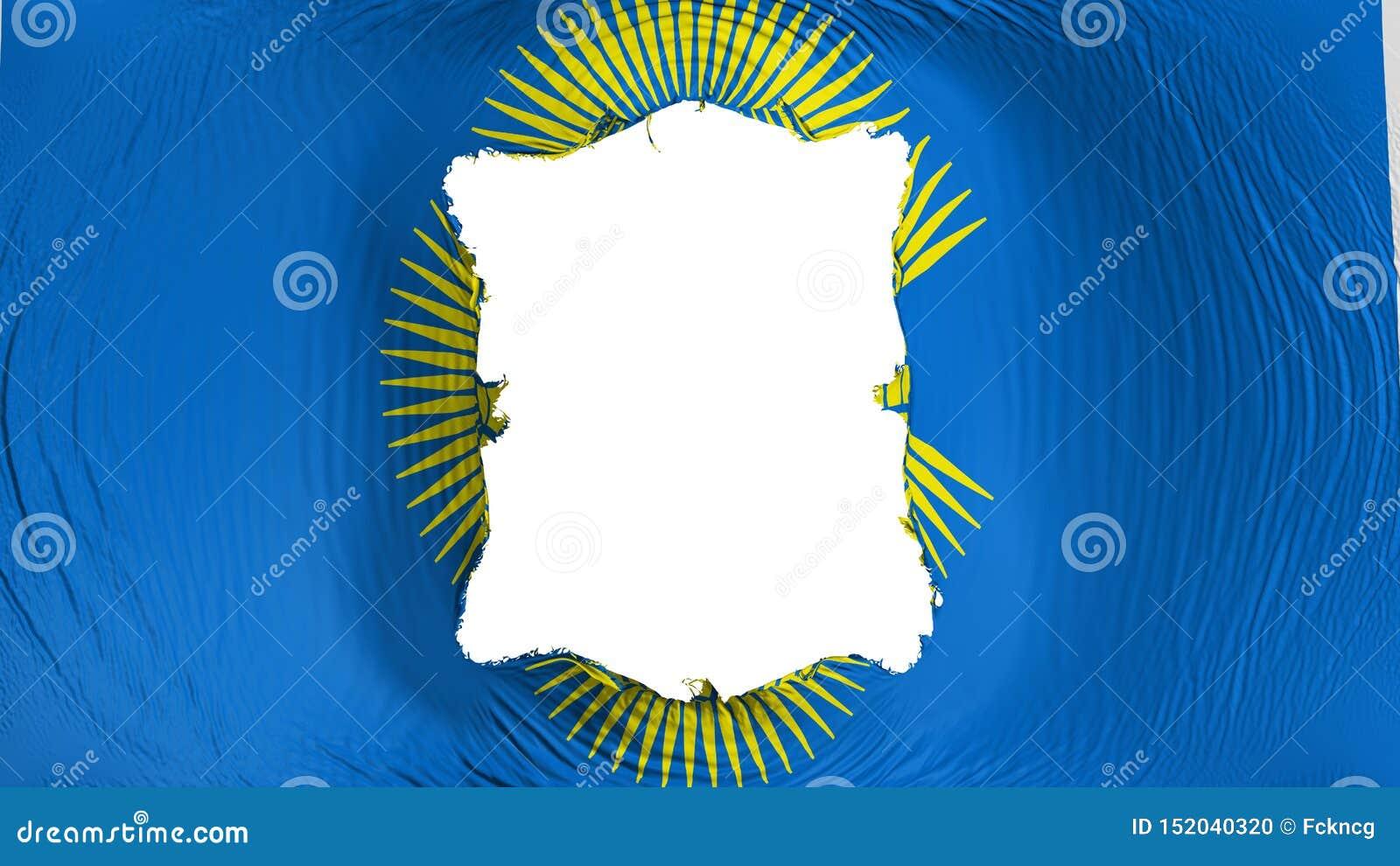 Perforation rectangulaire dans le Commonwealth du drapeau de nations