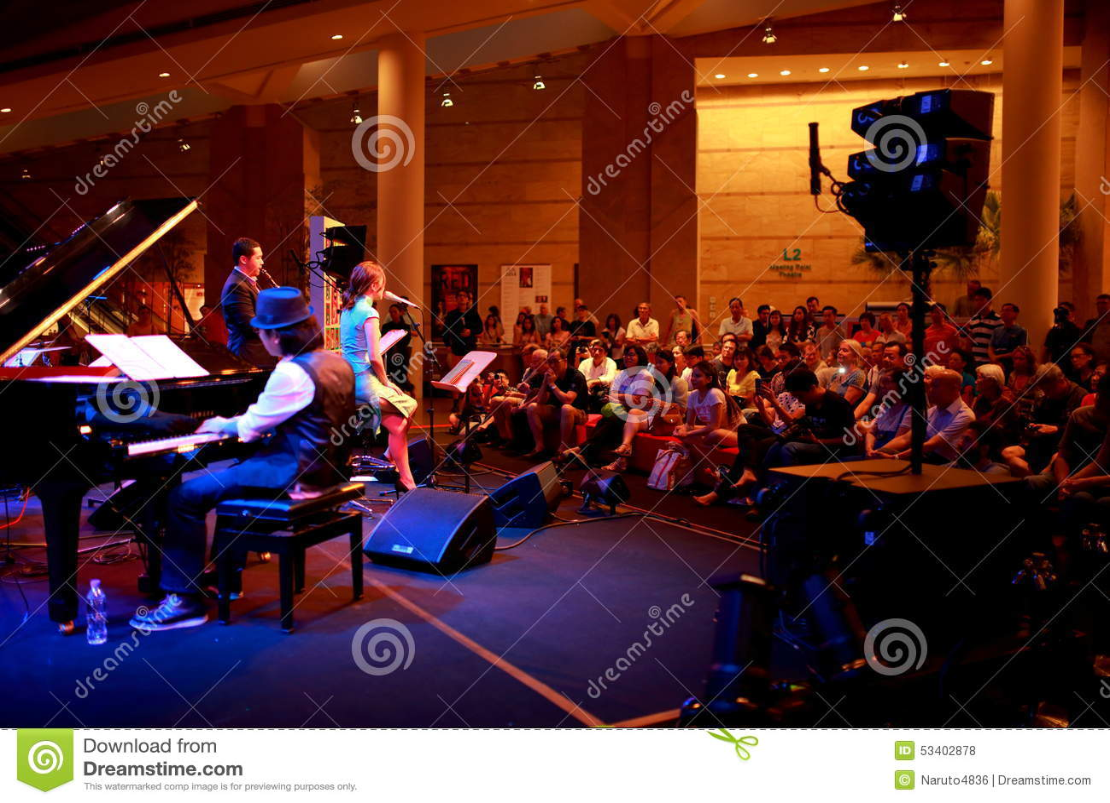 Performance At Esplanade Singapore Editorial Stock Photo