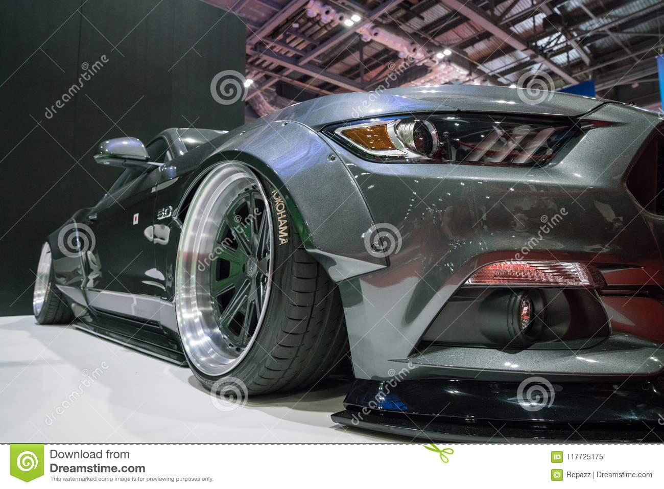 Performance Ford Mustang Close Up Shot Editorial Image Image Of