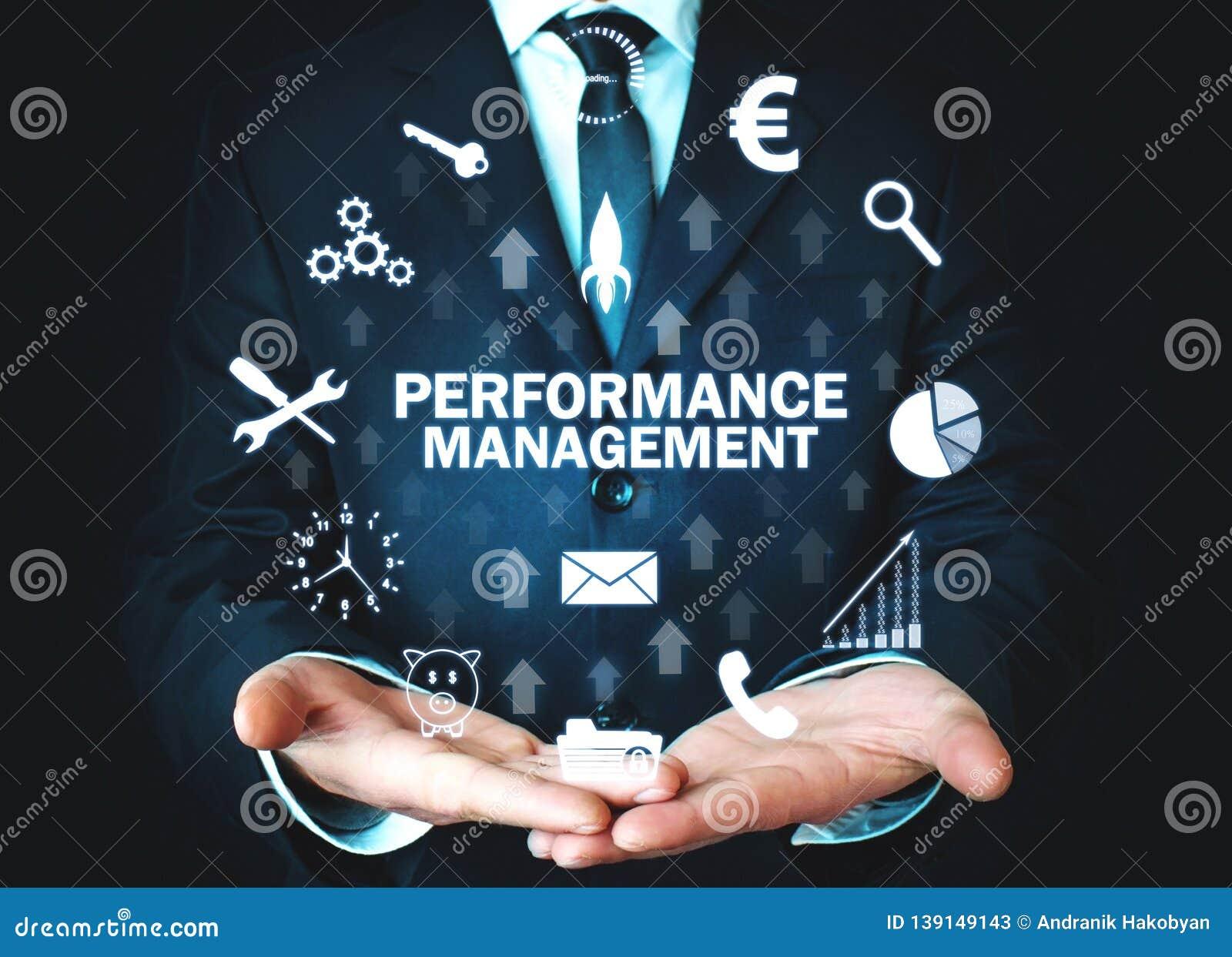 Performance Management. Business technology concept