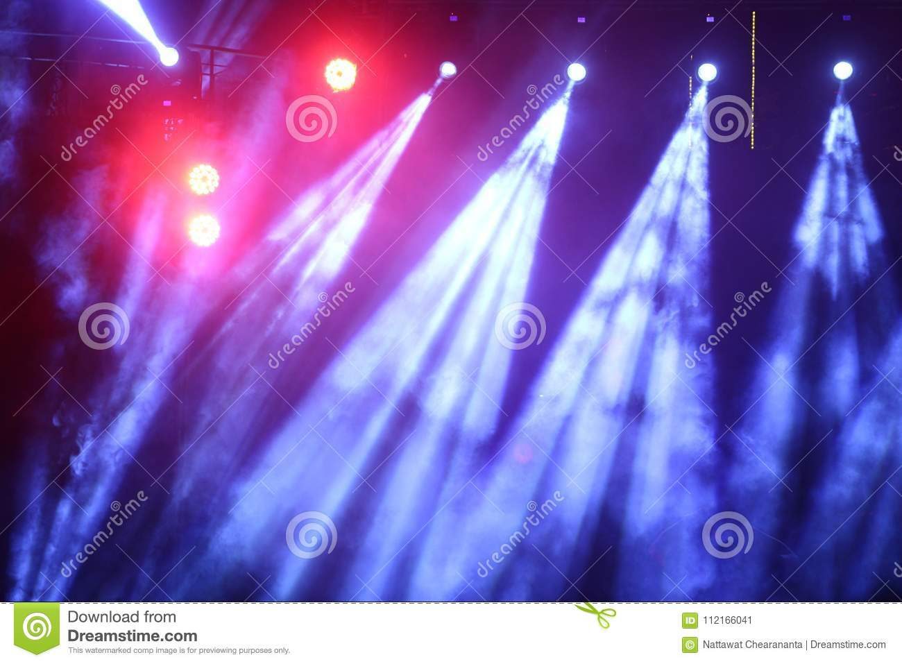 Download Performance Moving Lighting On Construction Light Beam Ray Editorial Photo