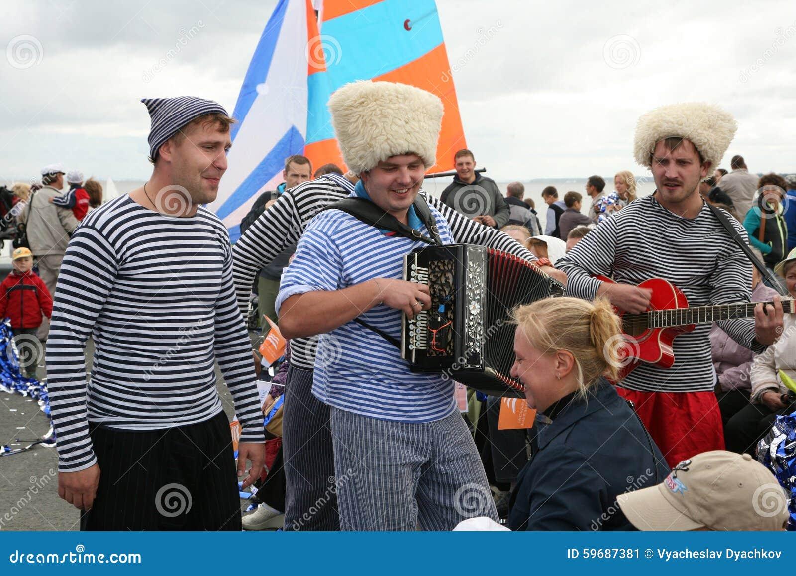 The Performance Of Russian Music Pop Folk Group Ensemble