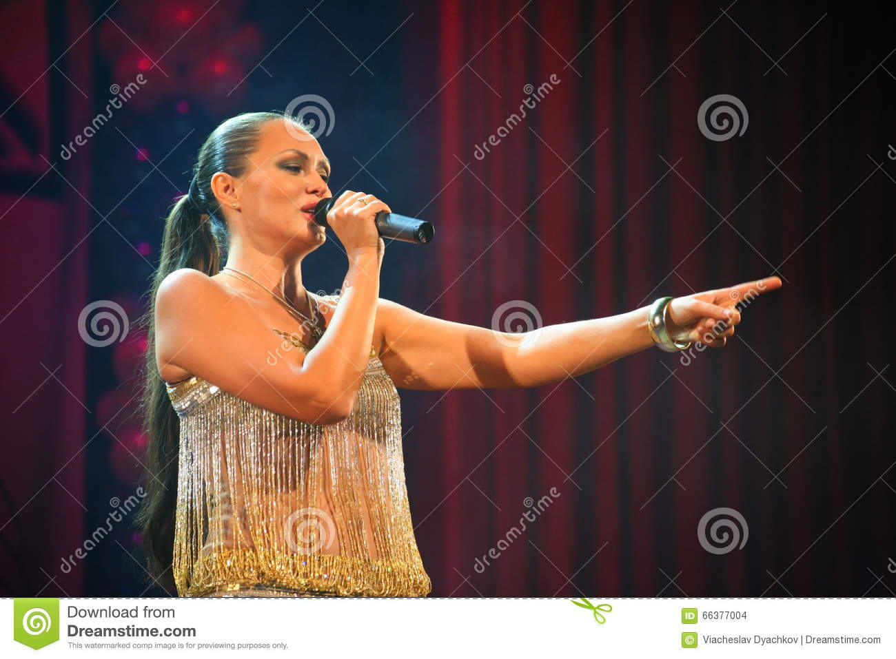 The Performance On The Stage Actress And Singer Of Russian