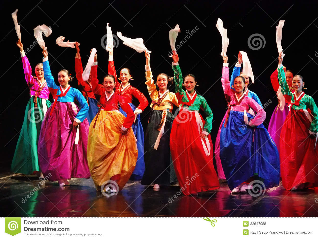 Performers Of Busan Korean Traditional Dance Editorial Stock Photo  Image of festival, color