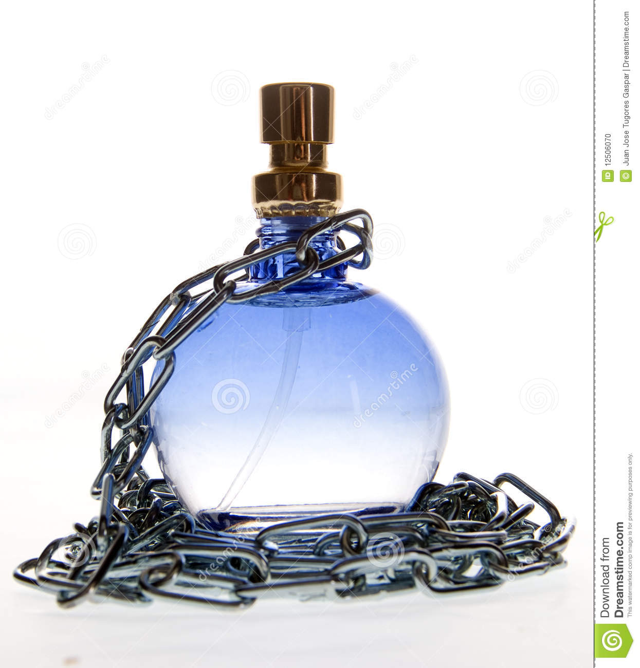 Fragrances Perfume Bottle And Perfume Bottles: Perfume Bottle And Chain Stock Photo. Image Of Cologne