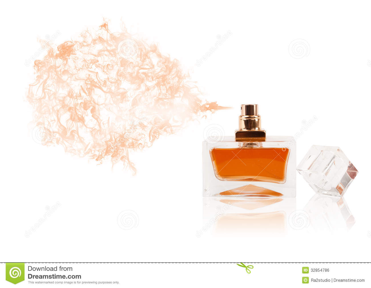 Perfume Bottle Spraying Colored Scent Royalty Free Stock Image - Image ...