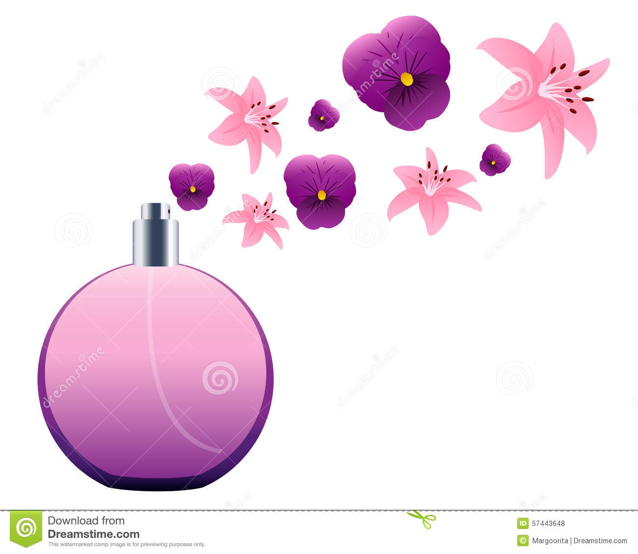 perfume bottle stock vector illustration of pink concept 57443648