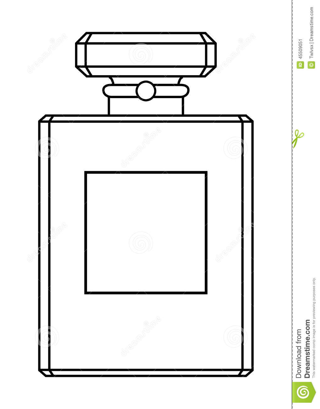Parfum Kleurplaat Perfume Bottle Stock Vector Illustration Of Empty
