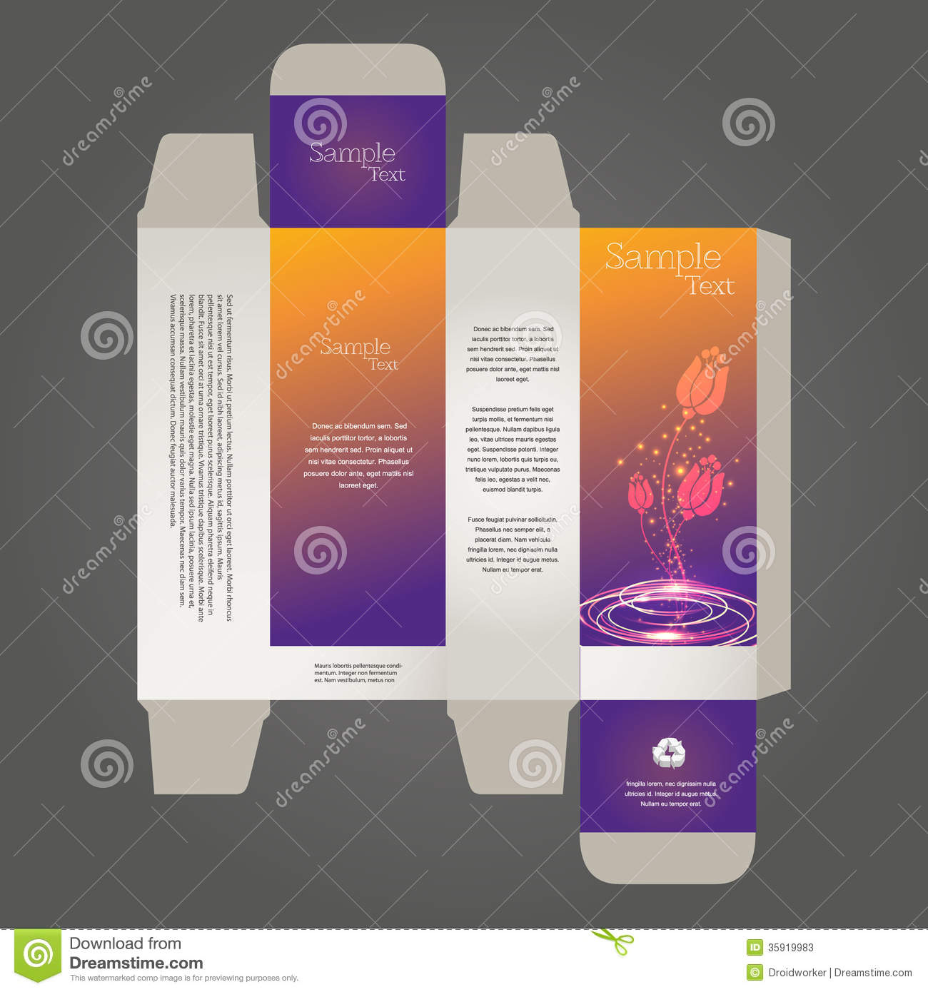 Perfume box design stock vector illustration of dots for Cologne box template
