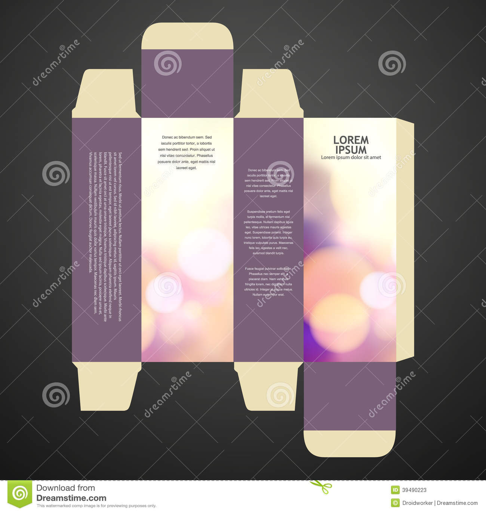 Perfume box design stock photo image 39490223 for Cologne box template