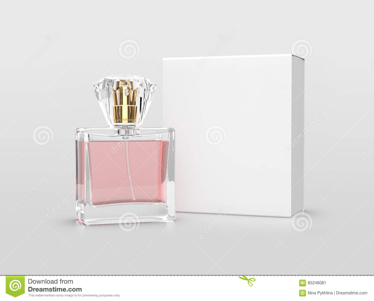 Perfume Packaging Mock Up Stock Image Image Of Clean 85246081