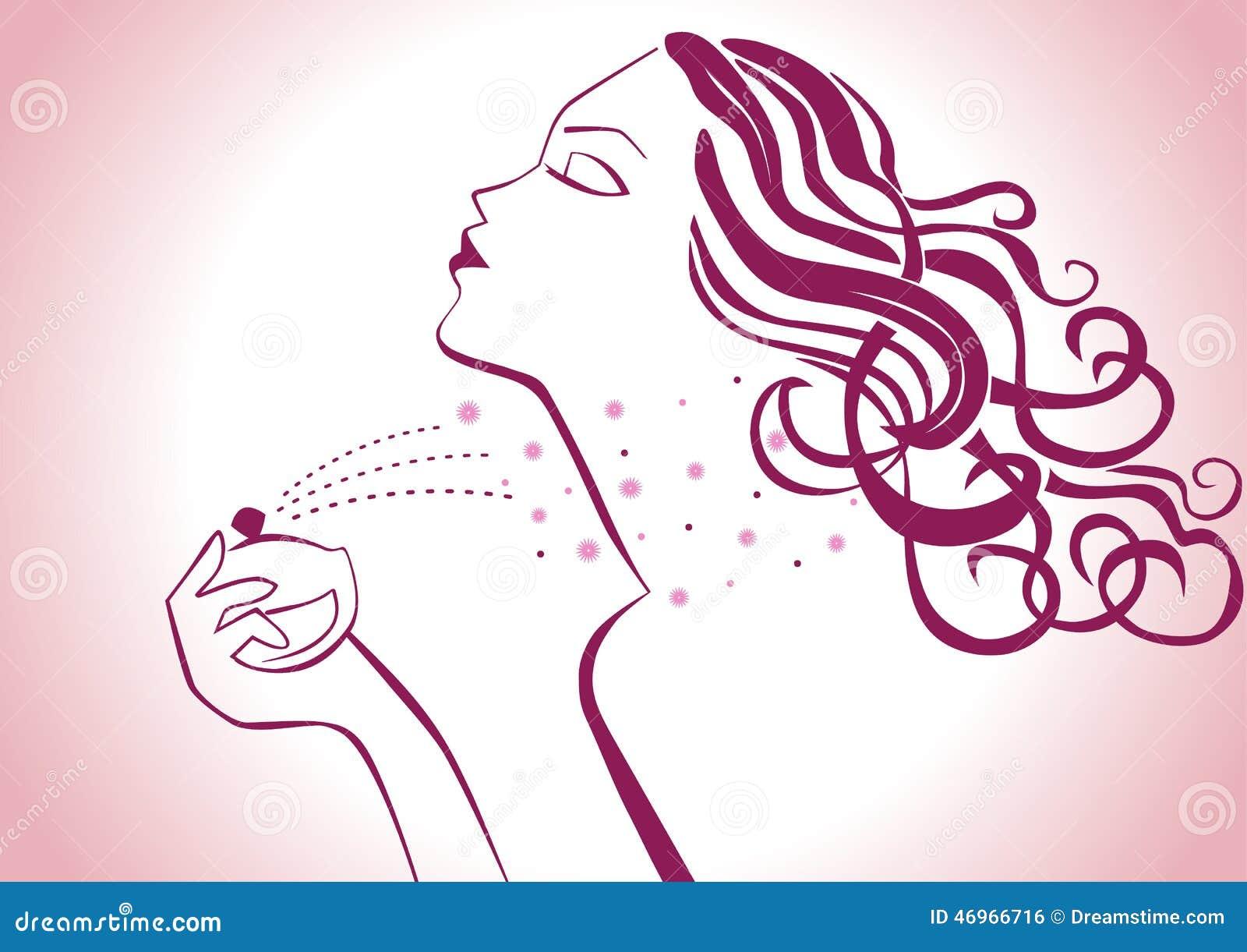 perfume stock illustration illustration of hairstyle