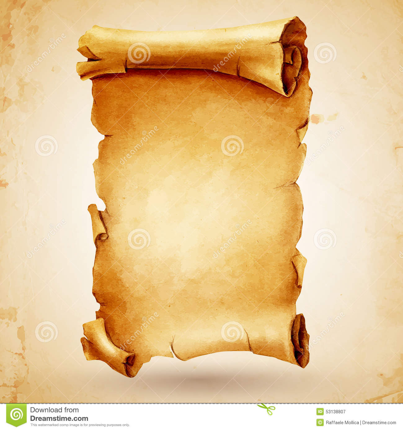 Pergamena ancient scroll stock vector. Image of picture ...