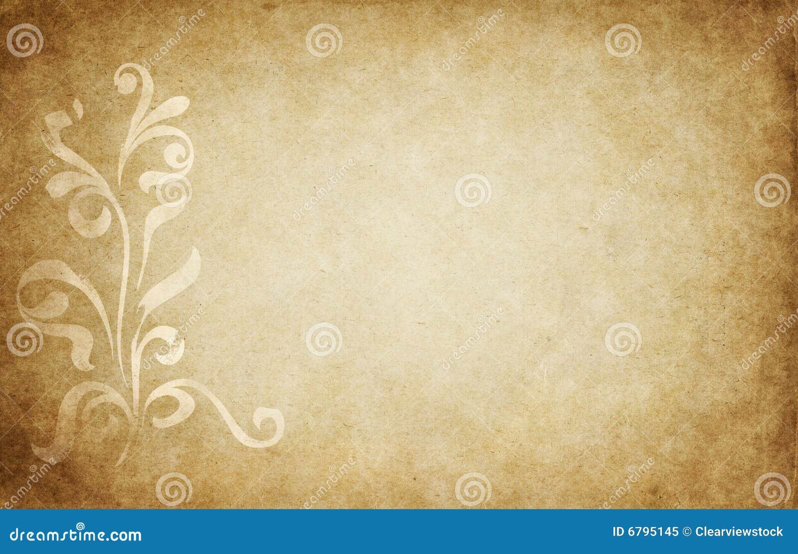 Amato Pergamena Con Il Disegno Floreale Illustrazione Vettoriale  TK63