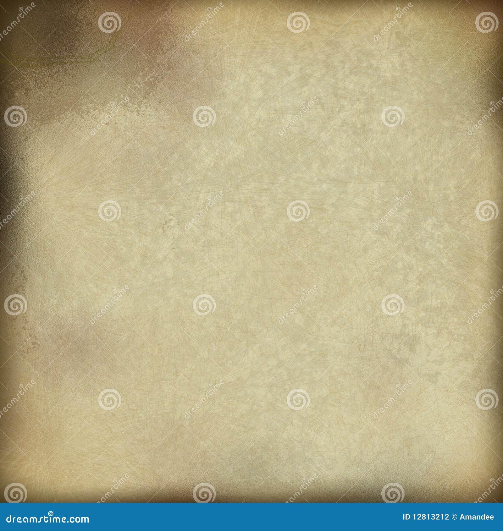 Pergaminho de papel de creme velho