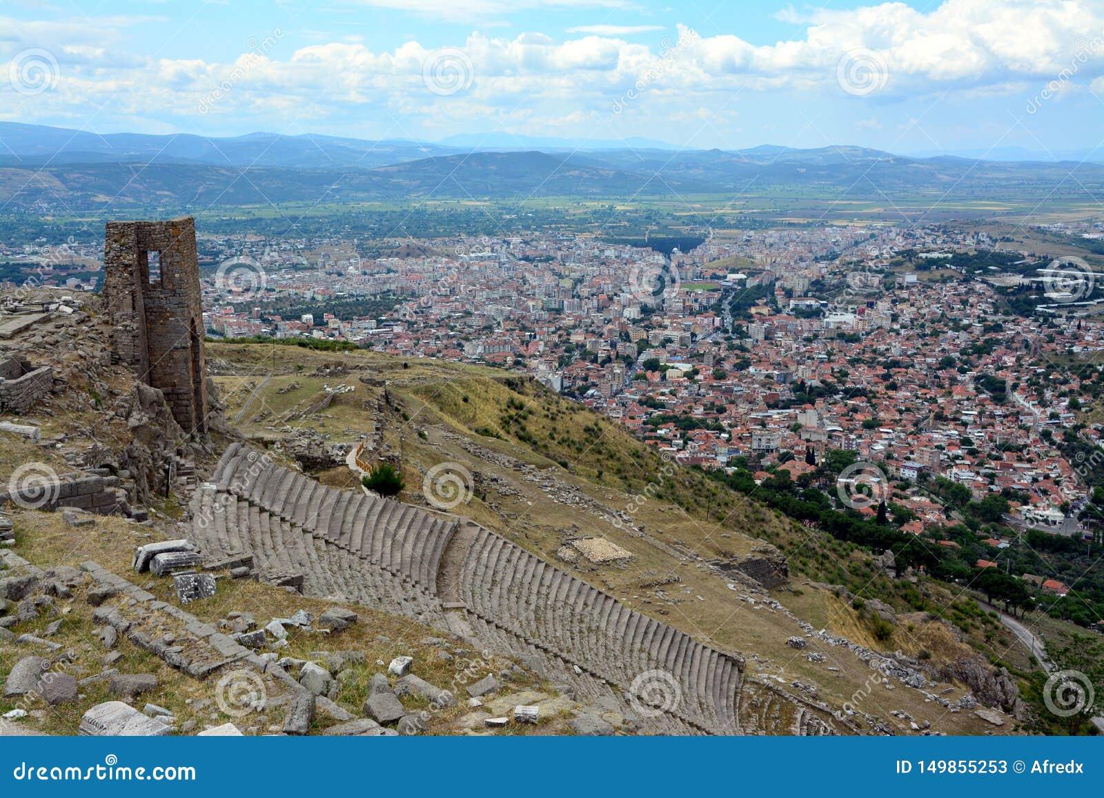 Pergamon Antyczny miasto w Izmir Turcja