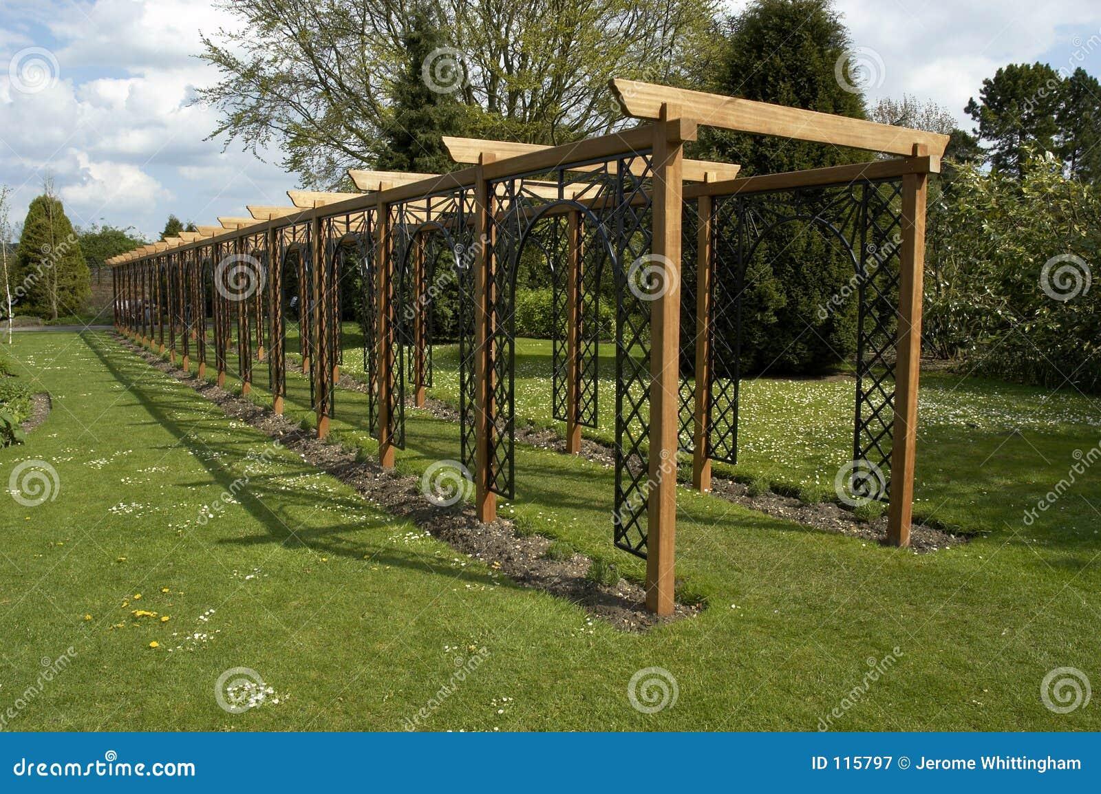 Pergola royalty free stock photography image 115797 for Metal garden bridge designs