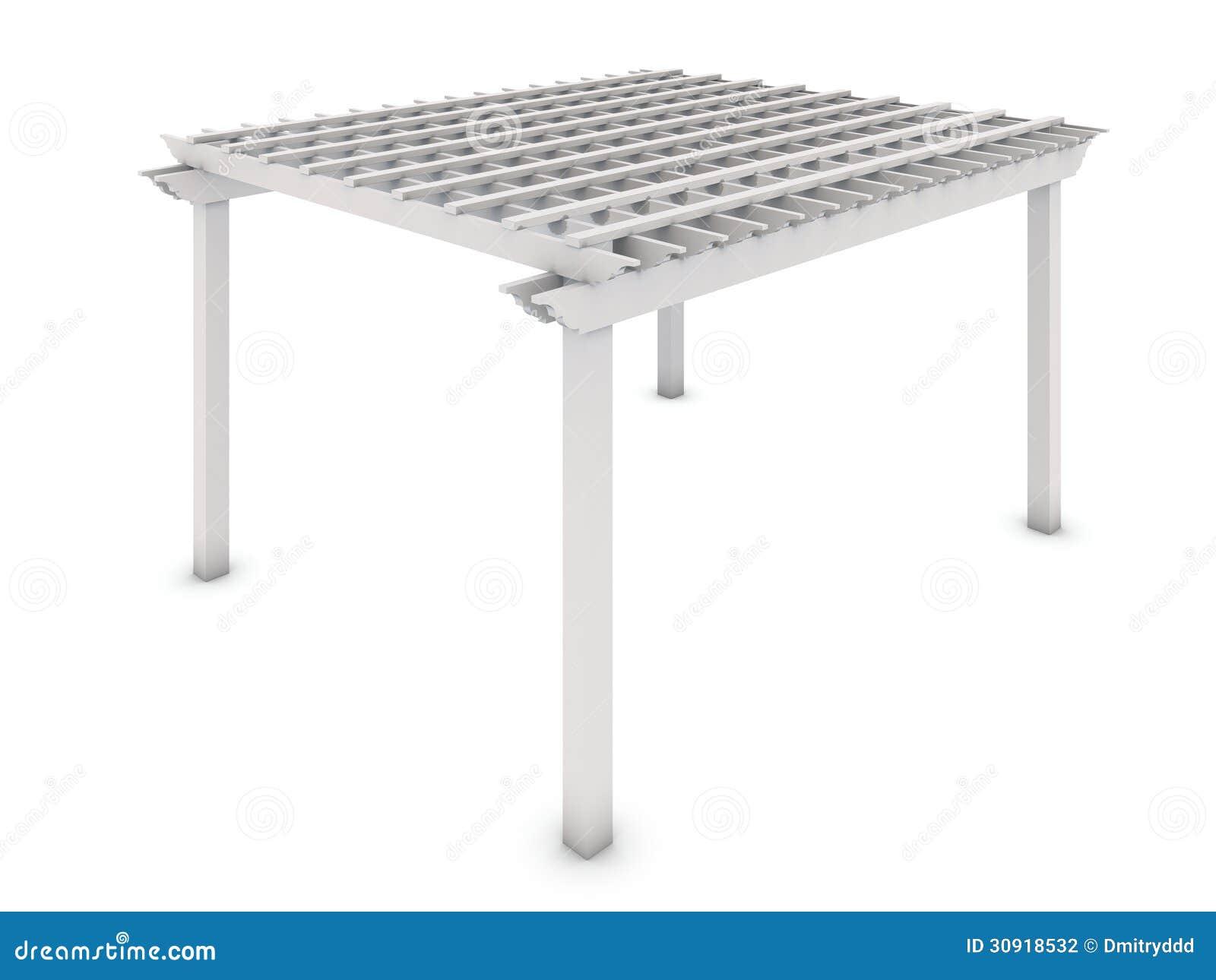 pergola en bois blanche photographie stock image 30918532. Black Bedroom Furniture Sets. Home Design Ideas