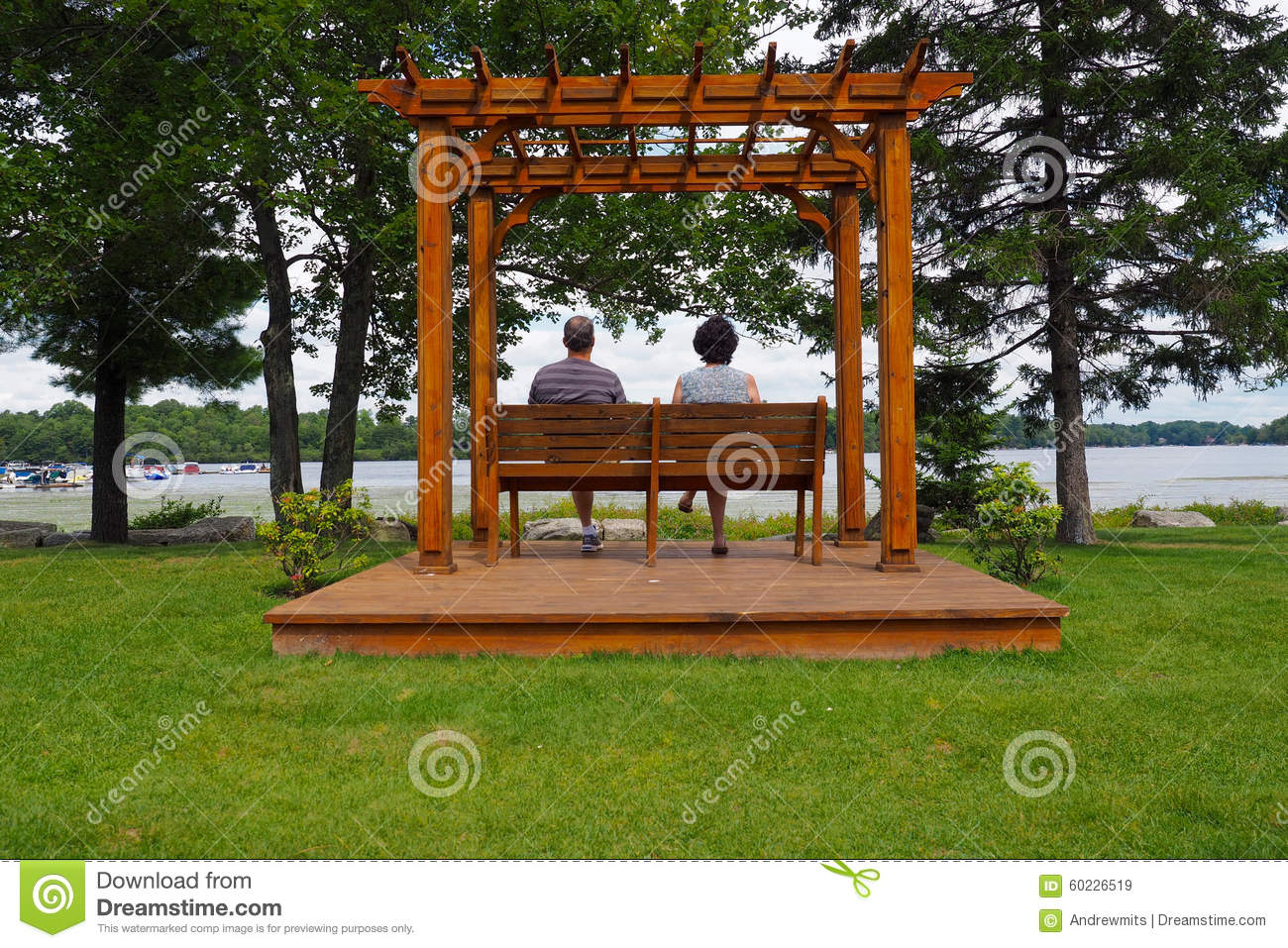 Fabulous Pergola With Man And Woman Stock Image Image Of Lady 60226519 Forskolin Free Trial Chair Design Images Forskolin Free Trialorg